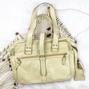 Mulberry leather satchel shoulder bag
